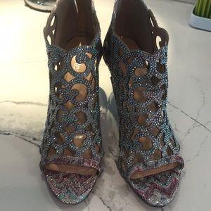 J Rene sparkly lace bootie shoe